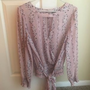 New York and company Mauve/pink blouse